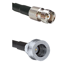 TNC Female Connector On LMR-240UF UltraFlex To QN Male Connector Cable Assembly