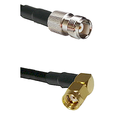 TNC Female on LMR240 Ultra Flex to SMA Reverse Polarity Right Angle Male Cable Assembly