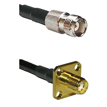 TNC Female Connector On LMR-240UF UltraFlex To SMA 4 Hole Female Connector Cable Assembly