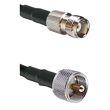 TNC Female On LMR400UF To UHF Male Connectors Ultra Flex Coaxial Cable