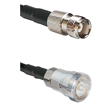 TNC Female on RG142 to 7/16 Din Female Cable Assembly