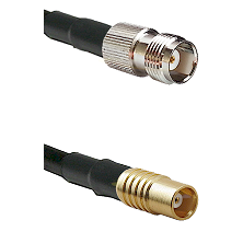 TNC Female on RG142 to MCX Female Cable Assembly