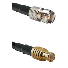 TNC Female on RG142 to MCX Male Cable Assembly