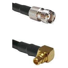 TNC Female on RG188 to MMCX Right Angle Male Cable Assembly