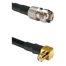 TNC Female on RG58C/U to MCX Right Angle Male Cable Assembly