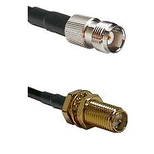 TNC Female on RG58C/U to SMA Reverse Polarity Female Bulkhead Cable Assembly