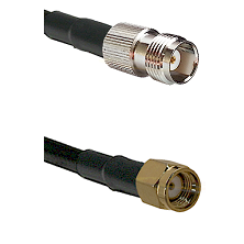 TNC Female on RG58C/U to SMA Reverse Polarity Male Cable Assembly
