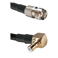TNC Female on RG58C/U to SMB Right Angle Male Cable Assembly