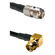 TNC Female on RG58C/U to SMC Right Angle Female Cable Assembly