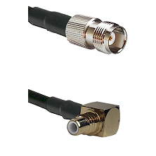 TNC Female on RG58C/U to SMC Right Angle Male Cable Assembly