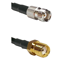 TNC Female on RG58C/U to SMA Reverse Thread Female Cable Assembly