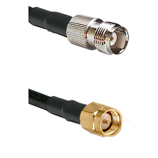 TNC Female on RG58C/U to SMA Reverse Thread Male Cable Assembly