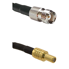 TNC Female on RG58C/U to SLB Male Cable Assembly