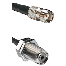 TNC Female To UHF Female Bulk Head Connectors RG58C/U Cable Assembly
