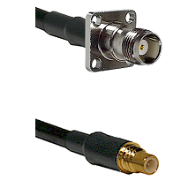 TNC 4 Hole Female on Belden 83242 RG142 to SSMC Male Cable Assembly