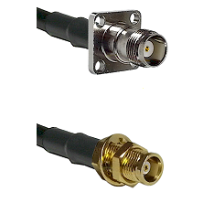 TNC 4 Hole Female on LMR100 to MCX Female Bulkhead Cable Assembly