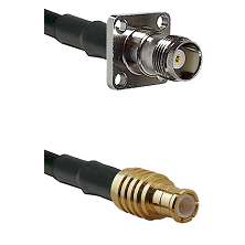 TNC 4 Hole Female on LMR100 to MCX Male Cable Assembly