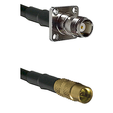 TNC 4 Hole Female on LMR100 to MMCX Female Cable Assembly