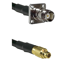 TNC 4 Hole Female on LMR100 to MMCX Male Cable Assembly