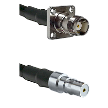 TNC 4 Hole Female on LMR100 to QMA Female Cable Assembly
