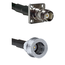TNC 4 Hole Female on LMR100 to QN Male Cable Assembly
