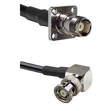 TNC 4 Hole Female on LMR-195-UF UltraFlex to BNC Reverse Polarity Right Angle Male Coaxial Cable Ass