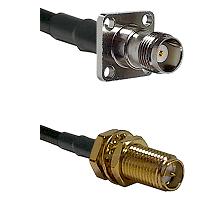 TNC 4 Hole Female on LMR-195-UF UltraFlex to SMA Reverse Polarity Female Bulkhead Coaxial Cable Asse