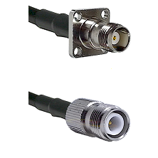 TNC 4 Hole Female on LMR-195-UF UltraFlex to TNC Reverse Polarity Female Cable Assembly