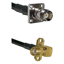 TNC 4 Hole Female on LMR-195-UF UltraFlex to SMA 2 Hole Right Angle Female Cable Assembly