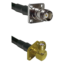 TNC 4 Hole Female on LMR-195-UF UltraFlex to SMA 4 Hole Right Angle Female Cable Assembly