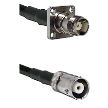 TNC 4 Hole Female on LMR200 UltraFlex to MHV Female Cable Assembly