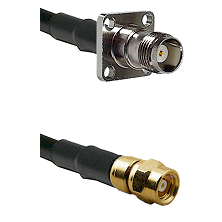 TNC 4 Hole Female on LMR200 UltraFlex to SMC Male Cable Assembly