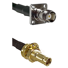TNC 4 Hole Female on RG142 to 10/23 Female Bulkhead Cable Assembly