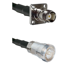 TNC 4 Hole Female on RG142 to 7/16 Din Female Cable Assembly