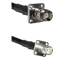 TNC 4 Hole Female on RG142 to BNC 4 Hole Female Cable Assembly