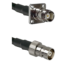 TNC 4 Hole Female on RG142 to C Female Cable Assembly