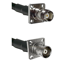 TNC 4 Hole Female on RG142 to C 4 Hole Female Cable Assembly