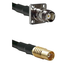 TNC 4 Hole Female on RG142 to MCX Female Cable Assembly