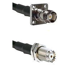 TNC 4 Hole Female on RG142 to Mini-UHF Female Cable Assembly