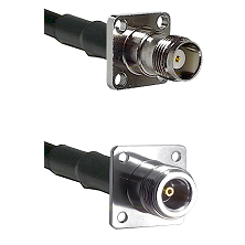TNC 4 Hole Female on RG142 to N 4 Hole Female Cable Assembly