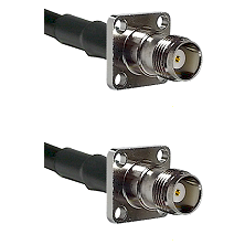TNC 4 Hole Female on RG188 to TNC 4 Hole Female Cable Assembly