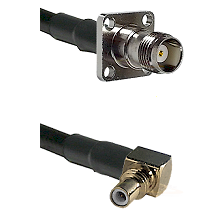 TNC 4 Hole Female on RG316DS Double Shielded to SSMC Right Angle Male Cable Assembly