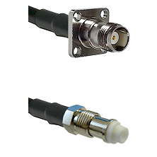 TNC 4 Hole Female on RG400 to FME Female Cable Assembly