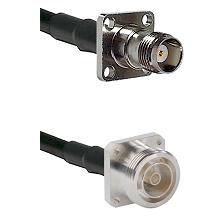 TNC 4 Hole Female on RG58C/U to 7/16 4 Hole Female Cable Assembly