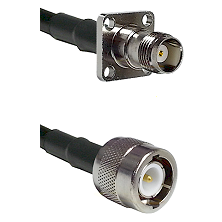 TNC 4 Hole Female on RG58C/U to C Male Cable Assembly