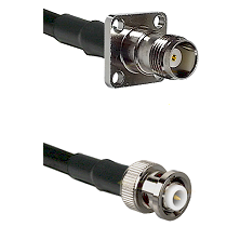 TNC 4 Hole Female on RG58C/U to MHV Male Cable Assembly
