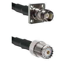 TNC 4 Hole Female on RG58 to Mini-UHF Female Cable Assembly