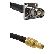 TNC 4 Hole Female on RG58C/U to SLB Male Cable Assembly