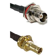 TNC Female Bulkhead on LMR100 to 10/23 Female Bulkhead Cable Assembly