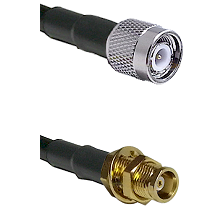 TNC Male on LMR100 to MCX Female Bulkhead Cable Assembly